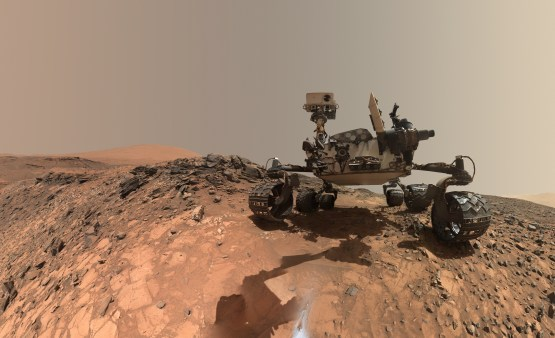 A selfie taken by the Mars Curiosity Rover.