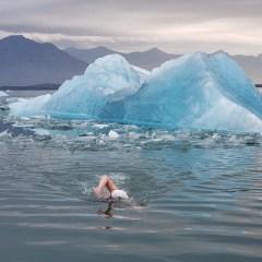 Superhero Ice-Water Swimmer