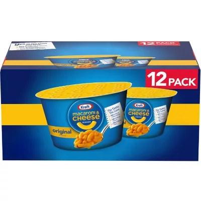 kraft easy mac original flavor macaroni and cheese 12 pk