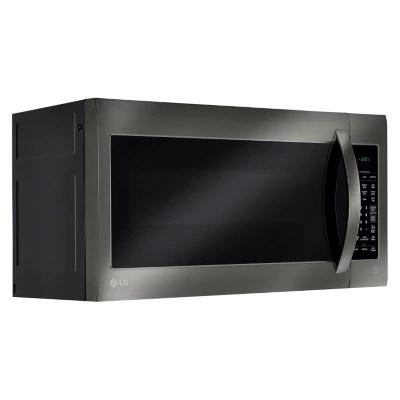 lg 2 0 cu ft over the range microwave oven lmv2031bd black stainless steel