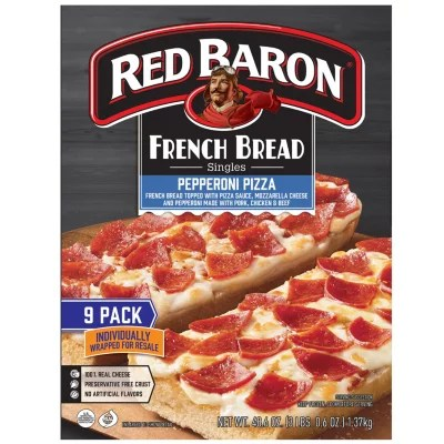red baron french bread singles pepperoni 9 pk