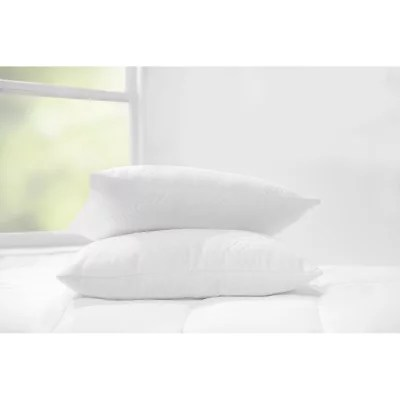 sleep renew luxury knit cover down alternative pillows 2 pack