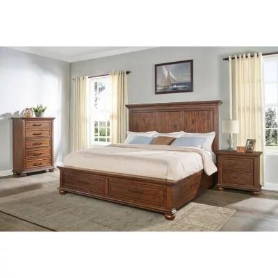 coronado aged cherry storage bedroom set assorted sizes