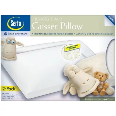 serta by sleep innovations memory foam cluster twin pack pillow