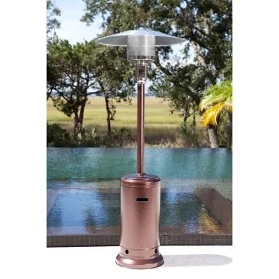 vulcan 44 000 btu hammered bronze patio heater
