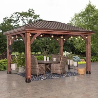 backyard discovery 14 x 10 cordova gazebo with electric hip roof