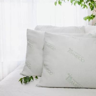 bamboo latex pillows jumbo 2 pack