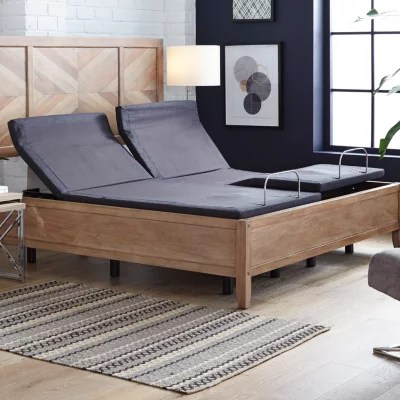member s mark split king premier adjustable base with pillow tilt and massage