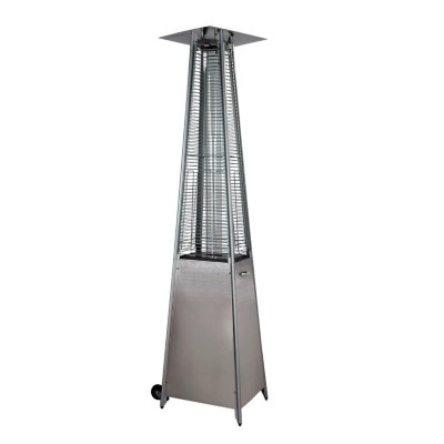stainless steel deluxe pyramid flame patio heater