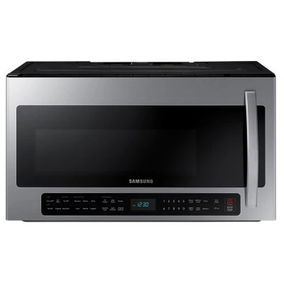 samsung 2 1 cu ft over the range microwave with sensor cooking me21r7051 choose color