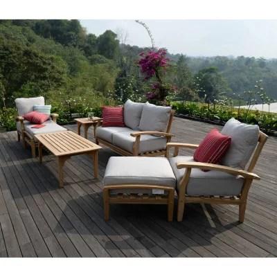 sale teak outdoor patio seating set it 61049t top patio furniture 2015