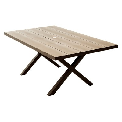 Lonsdale Faux Wood Patio Dining Table Target