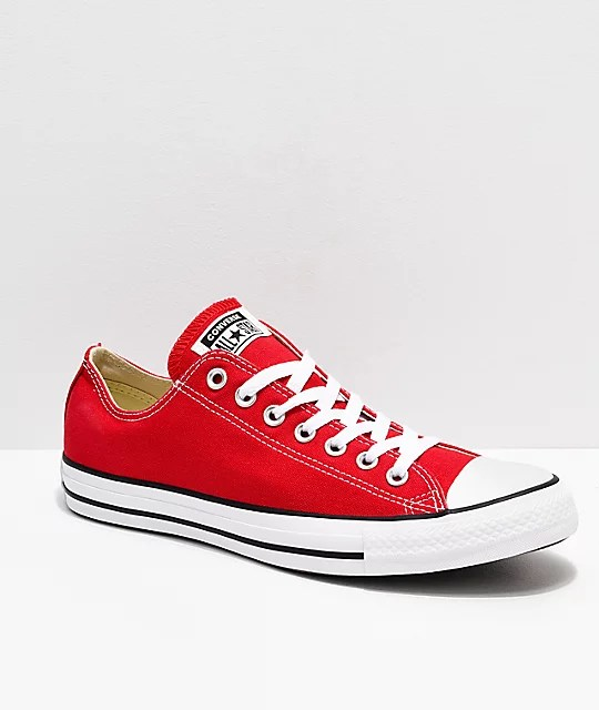 Converse Chuck Taylor All Star Red & White Shoes | Zumiez