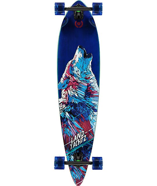 Landyachtz Bamboo Pinner Wolf 41 Longboard Complete At