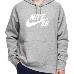 b9a68314d018 Nike Sb Icon Grey   White Hoodie Zumiez