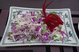 Chef's Green Salad with Lime Dressing (we had the cucumber taken out)