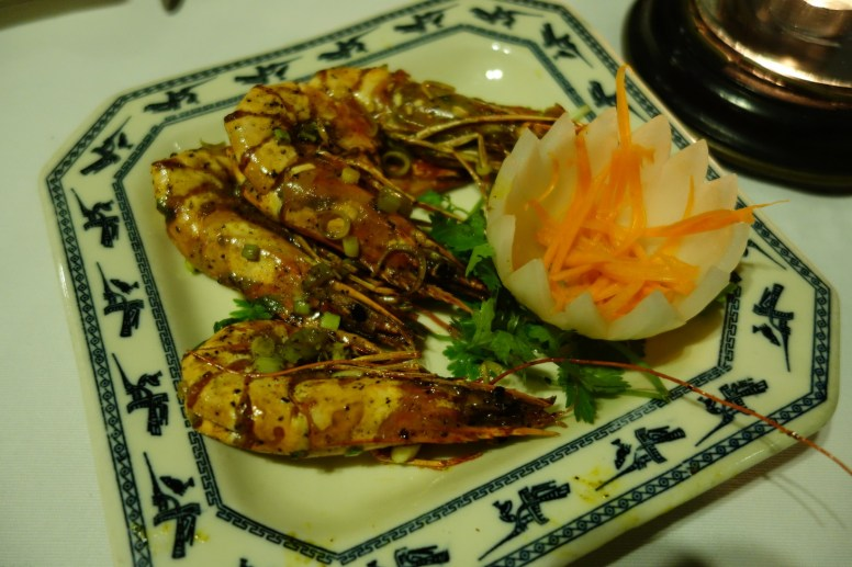 Fried Prawns with Traditional Rice Spirits