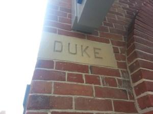 2. Duke Street sign at Frederick