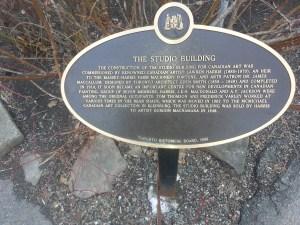 18. Studio Building Toronto plaque