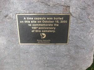 Toronto Necropolis time capsule