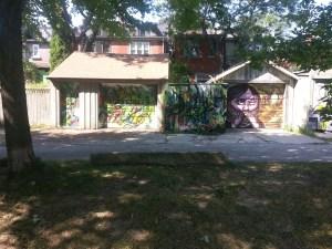 11. Bickford Park lane art