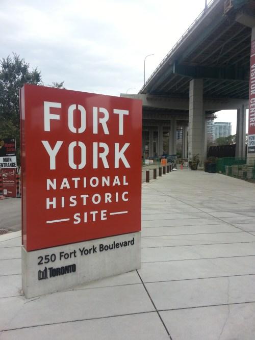 Fort York sign