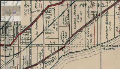 Map of the Townships, York, Scarboro, and Etobicoke 1916