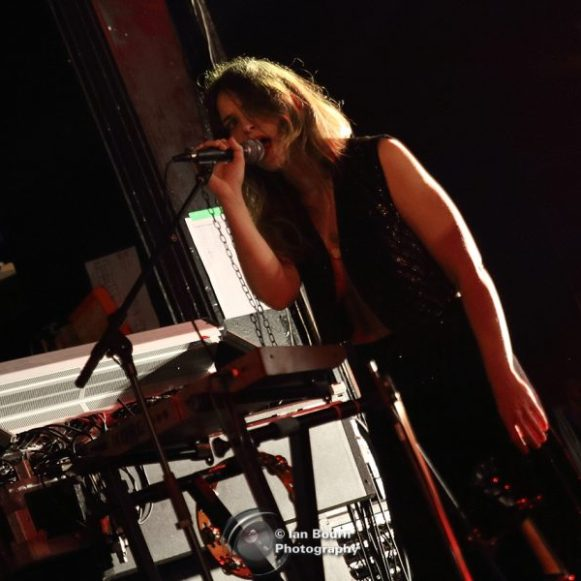 Jenny Maxwell (from Peter Perrett band) live at the Concorde 2 – photo by Ian Bourn for Scene Sussex