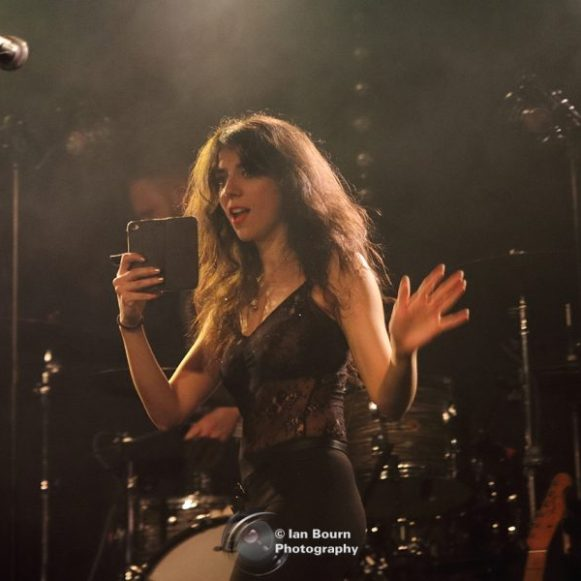 Lauren Moon (from Peter Perrett band) live at the Concorde 2 – photo by Ian Bourn for Scene Sussex