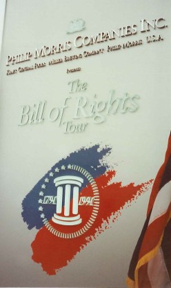 Bill of Rights was on Tour