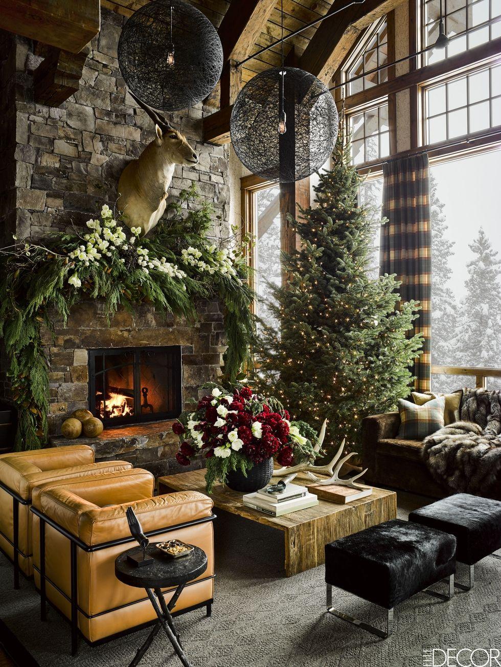 Christmas Decorations Inspiration Ski Lodge montana-christmas-home