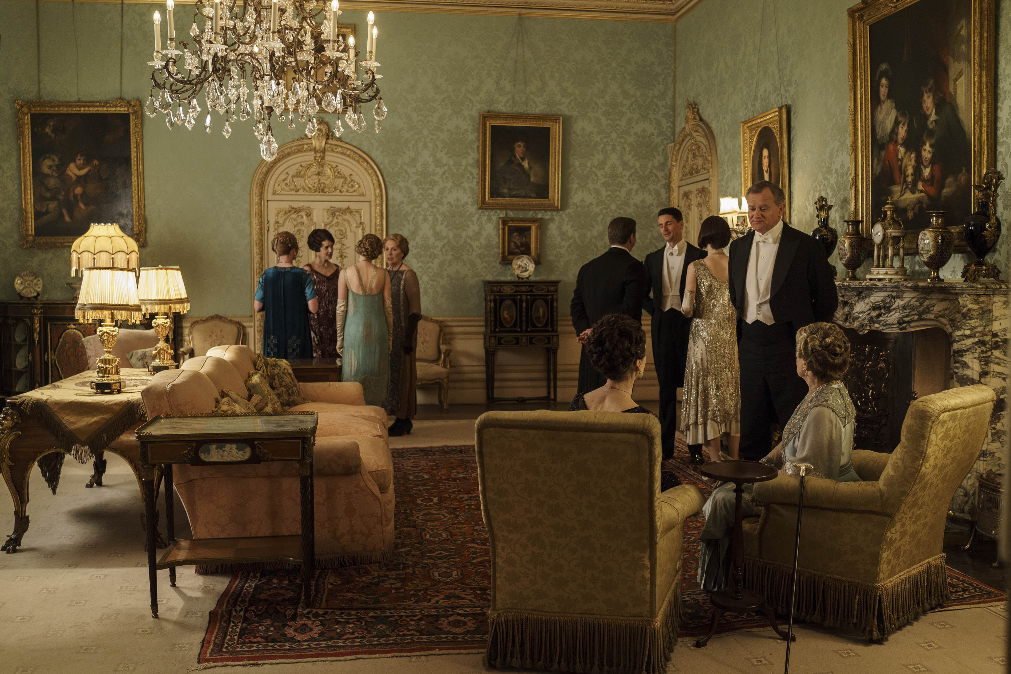 Inside Downton Abbey Drawing Room Set Scene Therapy