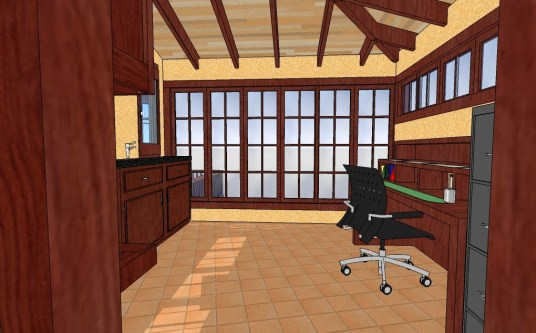 KD back porch office interior
