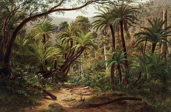 Eugene von Guerard Ferntree Gully in the Dandenong Ranges