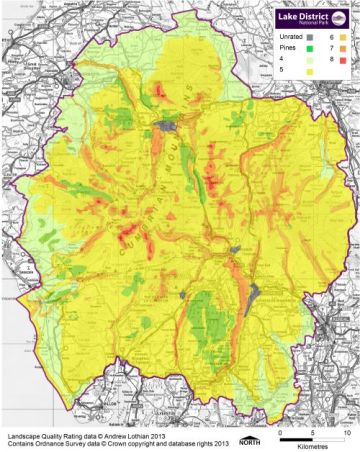 Lake District landscape quality map