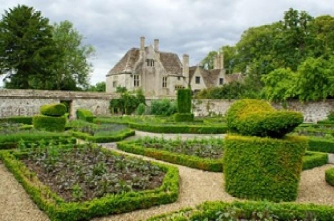 Walled monastery garden