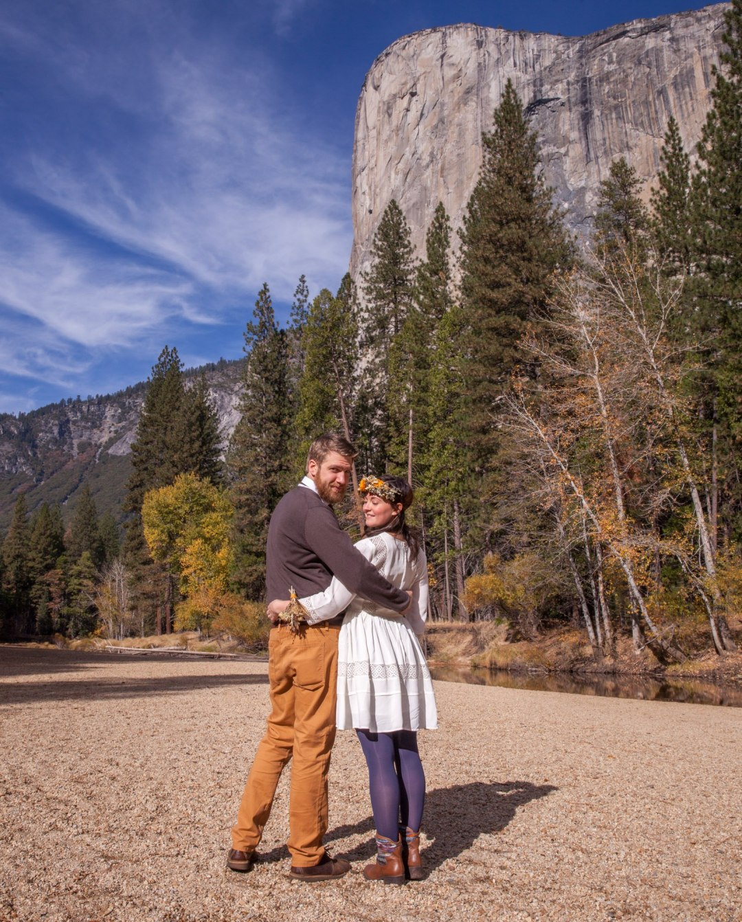 You may kiss the bride, Cathedral Beach, Yosemite elopement by Scenic Vows