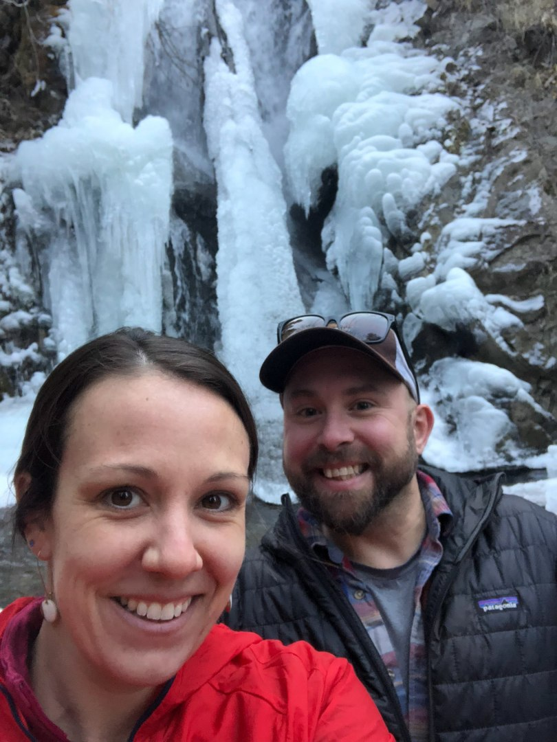 We hiked to a frozen waterfall in Reno last fall, super cool hike out of the desert!