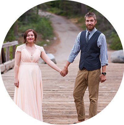 Newlyweds Sophie & Dillon reflecting on their elopement photographer
