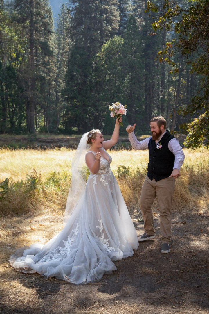 Woohoo!  Congrats to Ben & Sarah, and what a wonderful Yosemite adventure wedding!