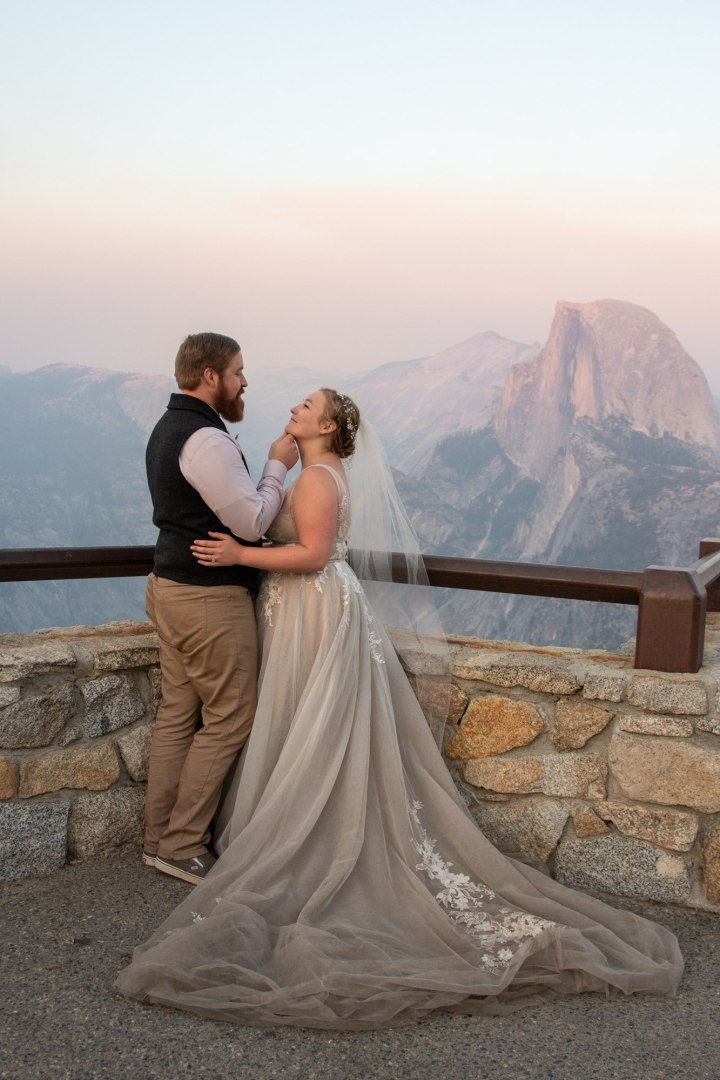 Glacier Point does not disappoint for wedding pics!