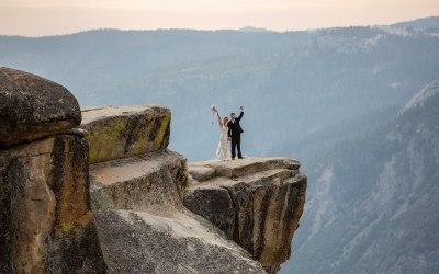 Sunset Taft Point Wedding