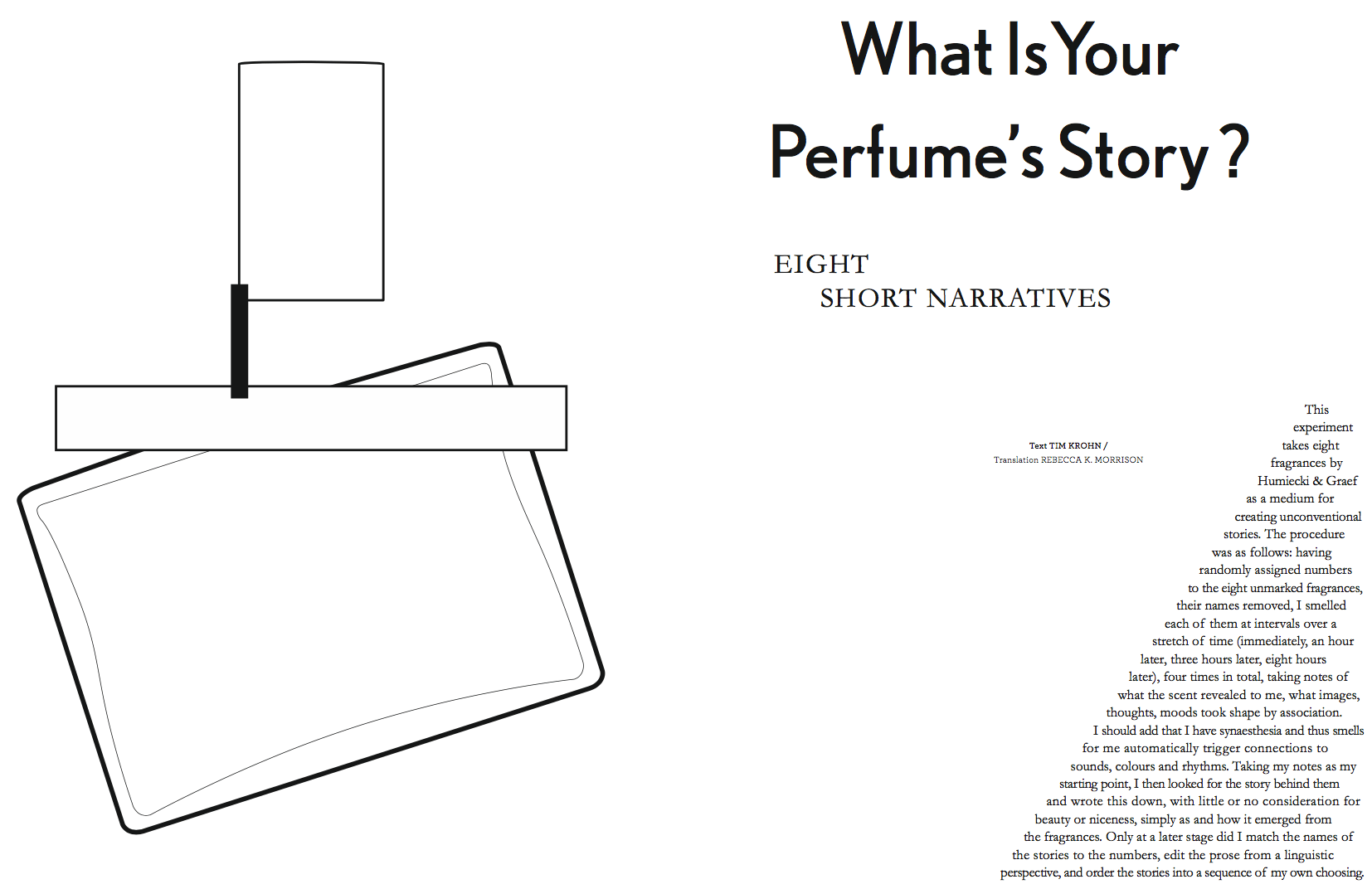 ODE: Scent inspired stories!