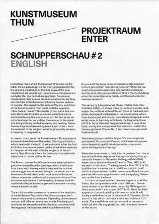 Connecting to the artworld: Schnupperschau, Thun