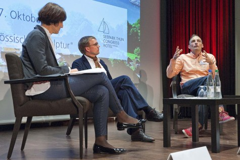 Panel with Christophe Laudemiel at UBS Arts Forum chaired by Dr. Karolina Jeftic at UBS