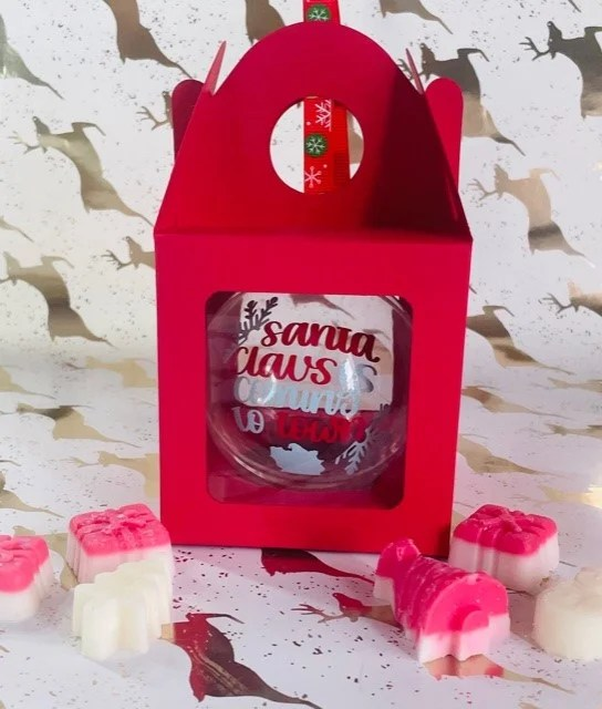 Santa Claus is coming to town Christmas Bauble