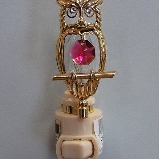 Gold Owl Night Light