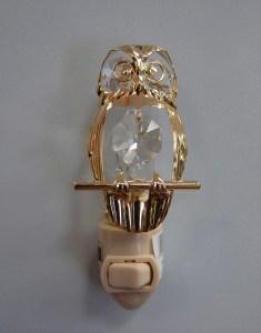 Gold Owl Night Light