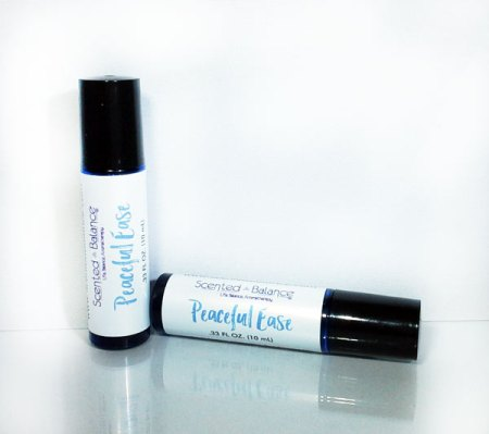 essential oils for stress anxiety and depression, Peaceful Ease Aromatherapy Rollerball, essential oils for relaxation, anxiety and depression,