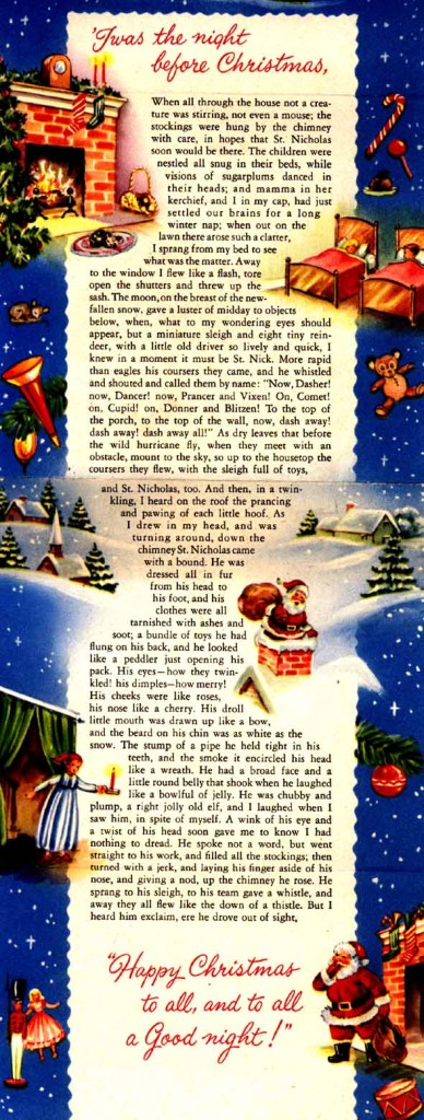 A Visit From St. Nick, Twas The Night Before Christmas,
